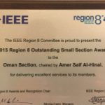 IEEE Oman Section won the outstanding Section award